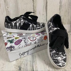 Python Black  White Jeffrey Campbell Sneakers
